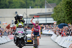 Anna van der Breggen wins the Boels Rental Ladies Tour Stage 5 a 141.8 km road race from Stamproy to Vaals, Netherlands on September 2, 2017. (Photo by Sean Robinson/Velofocus)