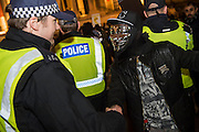 "The gathering in Trafalgar Square is pretty friendly but with a strong police presence - The Million Mask March - anti-establishment protesters in V for Vendetta-inspired Guy Fawkes masks march from Trafalgar Square to Parliament Square. It was organised by Anonymous, the anarchic 'hacktivist' network. The movement is also closely identified with the Occupy protests, Wikileaks, and the Arab Spring. The UK Anonymous website describes the march on Parliament as a ""protest against austerity … the infringement of our rights … mass surveillance … war crimes … corrupt politicians."""