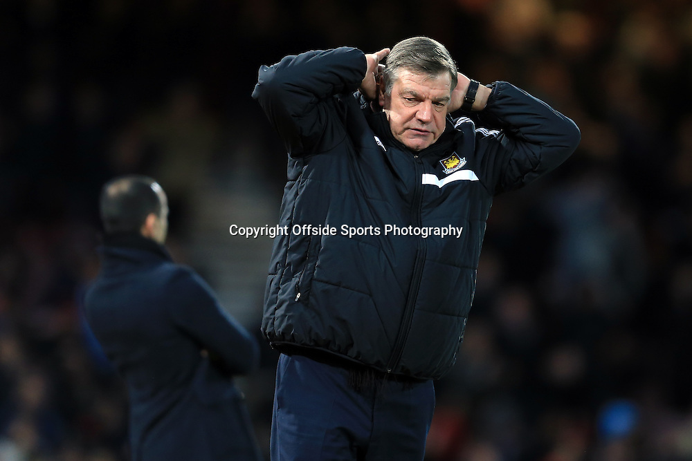 13 January 2015 - The FA Cup 3rd Round (Replay)  - West Ham v Everton - Sam Allardyce, Manager of West Ham United - Photo: Marc Atkins / Offside.