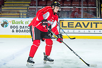 KELOWNA, CANADA - OCTOBER 20: Cody Glass #8 of the Portland Winterhawks skates during morning practice at the Kelowna Rockets on October 20, 2017 at Prospera Place in Kelowna, British Columbia, Canada.  (Photo by Marissa Baecker/Shoot the Breeze)  *** Local Caption ***