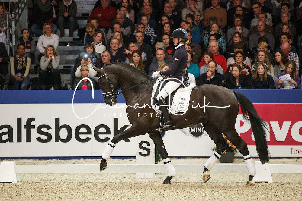 Van Der Putten Marieke (NED) - El Capone<br /> KWPN Stallion Selection - 's Hertogenbosch 2014<br /> © Dirk Caremans