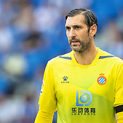 BARCELONA, SPAIN - August 18:  Goalkeeper Diego Lopez #13 of Espanyol during the Espanyol V  Sevilla FC, La Liga regular season match at RCDE Stadium on August 18th 2019 in Barcelona, Spain. (Photo by Tim Clayton/Corbis via Getty Images)