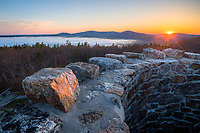 The view from the distinctive tower atop Mount Battie in Camden Hills State Park is one of the most beautiful in Maine.