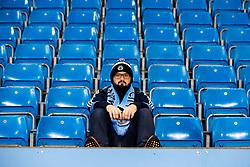 Manchester City fan takes his seat at The Etihad Stadium - Mandatory by-line: Robbie Stephenson/JMP - 07/11/2018 - FOOTBALL - Etihad Stadium - Manchester, England - Manchester City v Shakhtar Donetsk - UEFA Champions League