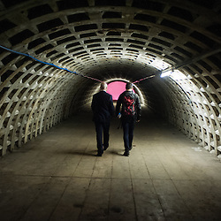 London, UK - 21 February 2014: the Zero Carbon Food - Growing Underground tunnels.