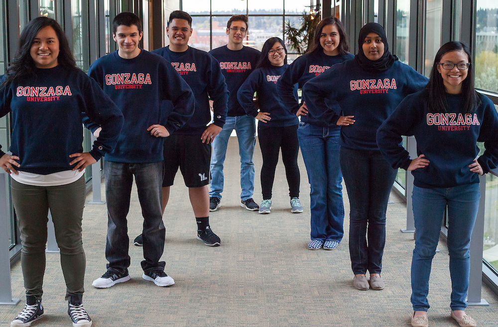 The eight incoming students for the program Act 6 organized by UMEC. [photo by Libby Kamrowski]