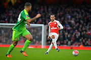 Arsenal Forward Theo Walcott during the The FA Cup match between Arsenal and Sunderland at the Emirates Stadium, London, England on 9 January 2016. Photo by Adam Rivers.