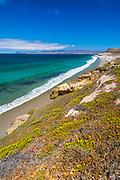 Santa Cruz Island from Skunk Point, Santa Rosa Island, Channel Islands National Park, California USA