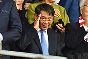 Southampton owner Jisheng Gao in the stand before the Premier League match between Southampton and Chelsea at the St Mary's Stadium, Southampton, England on 7 October 2018.