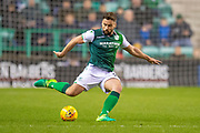 Darren McGregor (#24) of Hibernian FC during the Ladbrokes Scottish Premiership match between Hibernian and Rangers at Easter Road, Edinburgh, Scotland on 8 March 2019.