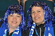 Mystic Supporters enjoying the build up before the start of the match ~ Netball action from ANZ Championship Grand Final - Queensland Firebirds v Northern Mystics - played at the Brisbane Convention Centre on Sunday 22nd May 2011 ~ Photo : Steven Hight (AURA Images) / Photosport