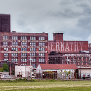 Part of the West Bottoms taken from near the I-670 overpass in Kansas City, Missouri.
