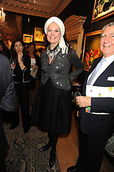 The HON.EMMA KITCHENER-FELLOWES  at an exhibition of Countess Flamburiari's paintings entitled 'Come to the Circus' held at Partridges Fine Art, Bond Street, London on 2nd December 2008.