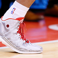 18 February 2014: Close view of Los Angeles Clippers small forward Matt Barnes (22) shoes during the San Antonio Spurs 113-103 victory over the Los Angeles Clippers at the Staples Center, Los Angeles, California, USA.