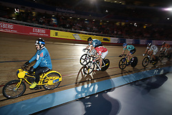 Action from the Men's Keiran during day five of the Six Day Series at Lee Valley Velopark, London