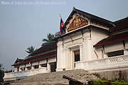 The Royal Palace Museum in Luang Prabang, Laos, awaits the throngs of Lao visitors and foreign tourists that visit the facility each day.