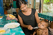 27 JUNE 2006 - SIEM REAP, CAMBODIA: Handicap International helps Cambodians maimed by mines and unexploded ordinance as well as traffic accidents and disease adjust to a life without limbs. Cambodians are still wrestling with the legacy of the war in Vietnam and subsequent civil wars. At one time it was the most heavily mined country in the world and a vast swath of Cambodia, along the Thai-Cambodian border, is still mined. In 2004, more than 800 people were killed by mines and unexploded ordinance still found in the countryside.  PHOTO BY JACK KURTZ