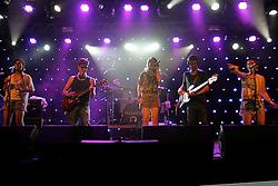 Banda Melody no camarote do Planeta Atlântida 2014/SC, que acontece nos dias 17 e 18 de janeiro de 2014 no Sapiens Parque, em Florianópolis. FOTO: Itamar Aguiar/ Agência Preview