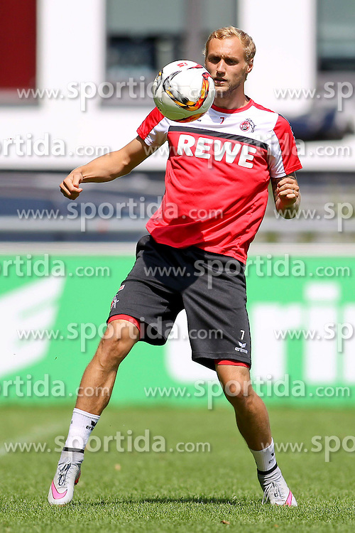 16.07.2015, Geissbockheim, Koeln, GER, 1. FBL, 1. FC Koeln, Training, im Bild Marcel Risse (1. FC Koeln #7) // during a practice session of German Bundesliga Club 1. FC Cologne at the Geissbockheim in Koeln, Germany on 2015/07/16. EXPA Pictures &copy; 2015, PhotoCredit: EXPA/ Eibner-Pressefoto/ Schueler<br /> <br /> *****ATTENTION - OUT of GER*****