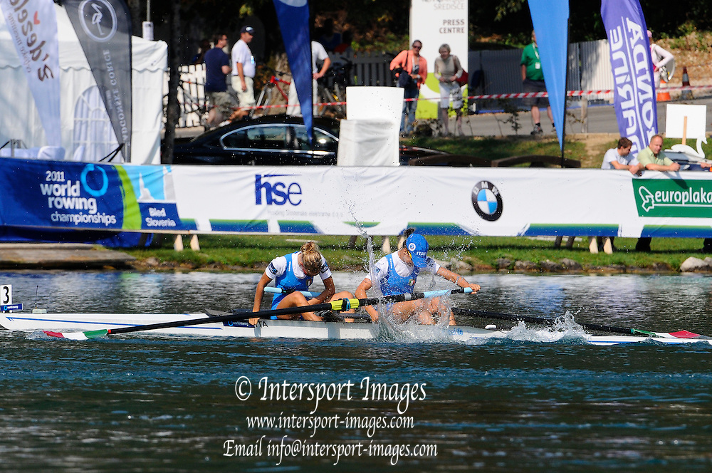 Bled, SLOVENIA. ITA W2-, 2011 FISA World Rowing Championships, Lake Bled. Thursday  01/09/2011   [Mandatory Credit; Intersport Images]