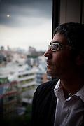 Tokyo, June 28 2012 -  Portrait of Laurent Ghnassia, director at La Boite.