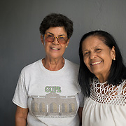 AUGUST 27, 2018--PATILLAS---PUERTO RICO--<br /> Nilsa A. Collazo Ramos, left, GUPE Treasurer,  and Maria  E. Rivas Rivera, GUPE President, at a GUPE outreach event with local farmers.<br /> (Photo by Angel Valentin/Freelance)