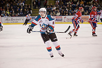 KELOWNA, CANADA, DECEMBER 27: Cole Martin #8 of the Kelowna Rockets skates on the ice against the Spokane Chiefs at the Kelowna Rockets on December 7, 2011 at Prospera Place in Kelowna, British Columbia, Canada (Photo by Marissa Baecker/Getty Images) *** Local Caption ***