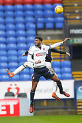 Bolton Wanderers defender Mark Little and Fulham defender Matt Targett  during the EFL Sky Bet Championship match between Bolton Wanderers and Fulham at the Macron Stadium, Bolton, England on 10 February 2018. Picture by Craig Galloway.