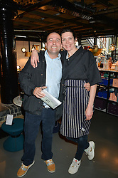 THOMASINA MIERS and CHRIS COLLINS at Fork to Fork - a Fundraising Feast to support The Open Air Classroom Project held at The Dock Kitchen, Portobello Docks, 342-344 Ladbroke Grove,  London,  London on 19th May 2015.
