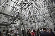 "54th Biennale of Venice..ILLUMInazioni - ILLUMInations.Giardini, French Pavillion..Christian Boltanski, ""Chance"", 2011."
