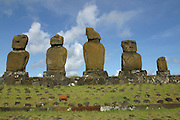 Tahai Arceological site, restored 1988, Easter Island (Rapa Nui), Chile<br />