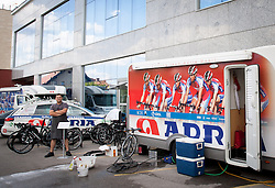 Dejan Rifelj of KK Adria Mobil at service zone in Austria Trend Hotel One day before the 20th Tour de Slovenie 2013,  on June 12, 2013 in Ljubljana, Slovenia. (Photo By Vid Ponikvar / Sportida)