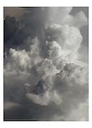 Cumulus-Wolken, nuages en altitude, photographiés d'un avion, altocumulus. © Romano P. Riedo