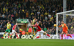 Marley Watkins of Bristol City misses a chance to score late on - Mandatory by-line: Arron Gent/JMP - 23/02/2019 - FOOTBALL - Carrow Road - Norwich, England - Norwich City v Bristol City - Sky Bet Championship
