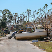 Destruction can be seen all over Mexico Beach Friday, Oct. 12, 2018. Residents of the small beach town of Mexico Beach began to make their way back to their homes some for the first time after Hurricane Michael made landfall Wednesday.