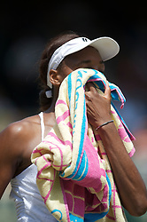 LONDON, ENGLAND - Tuesday, June 29, 2010: Venus Williams (USA) looks dejected during the Ladies' Singles Quarter-Final match on day eight of the Wimbledon Lawn Tennis Championships at the All England Lawn Tennis and Croquet Club. (Pic by David Rawcliffe/Propaganda)