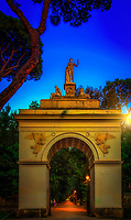 &quot;The sun goes down on the Arch at the gardens of Villa Borghese Roma&quot;...<br />