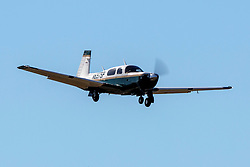 Mooney M20K (N697SP) on approach to Palo Alto Airport (KPAO), Palo Alto, California, United States of America