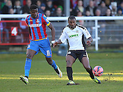 Dover Athletic Tyrone Sterling on the ball during the The FA Cup Third Round match between Dover Athletic and Crystal Palace at Crabble Athletic Ground, Dover, United Kingdom on 4 January 2015. Photo by Phil Duncan.