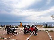 South coast east of Cagliari. We rented a Ducati Multistrada 1260, BMW 1200GS, and BMW 850GS. All 3 fine motorcycles, but each quite different in personality, strengths & weaknesses.