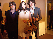 SASCHA BAILEY; PALOMA BAILEY; FENTON BAILEY,  Dinner to mark 50 years with Vogue for David Bailey, hosted by Alexandra Shulman. Claridge's. London. 11 May 2010 *** Local Caption *** -DO NOT ARCHIVE-© Copyright Photograph by Dafydd Jones. 248 Clapham Rd. London SW9 0PZ. Tel 0207 820 0771. www.dafjones.com.<br /> SASCHA BAILEY; PALOMA BAILEY; FENTON BAILEY,  Dinner to mark 50 years with Vogue for David Bailey, hosted by Alexandra Shulman. Claridge's. London. 11 May 2010