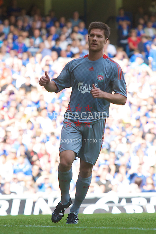 GLASGOW, SCOTLAND - Saturday, August 2, 2008: Liverpool's Xabi Alonso celebrates scoring the fourth goal against Rangers during a pre-season friendly match at Ibrox Stadium. (Photo by David Rawcliffe/Propaganda)