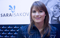 Sara Isakovic at press conference when she has signed a contract with SI Sport, on December 22, 2008, Grand hotel Union, Ljubljana, Slovenia. (Photo by Vid Ponikvar / SportIda).