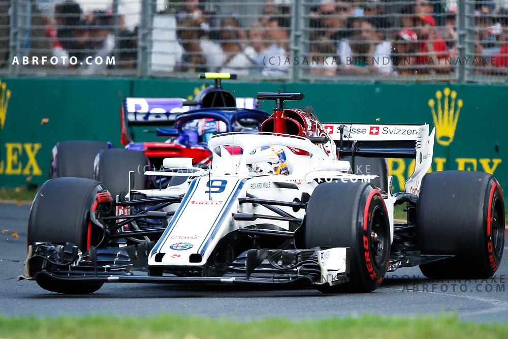 Sauber driver Marcus Ericsson of Sweden during the 2018 Rolex Formula 1 Australian Grand Prix at Albert Park, Melbourne, Australia, March 24, 2018.  Asanka Brendon Ratnayake