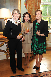 A party to promote the exclusive Puntacana Resort & Club - the Caribbean's Premier Golf & Beach Resort Destination, was held at Spencer House, London on 13th May 2010.<br /> <br /> Picture shows:- Left to right, BARBARA WARREN, GRACE TSUMUGI and DEBORAH BENNETT.