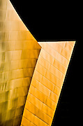 Architectural detail of Walt Disney Concert Hall building exterior, Los Angeles, California
