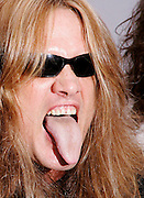 Singer Sebastian Bach poses at the Season 2 IFC 'Hottest Rocker Mom Contest' finale presentation on the Madison Square Park Traffic Island in New York City, USA on June 3, 2009.