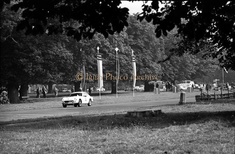 16/09/1967<br /> 09/16/1967<br /> 16 September 1967<br /> Phoenix Park Motor Racing, Kingsway Trophy Race, sponsored by Player and Wills (Ireland) Limited. Image shows P.McNamara's Triumph G.T. 6 (35).