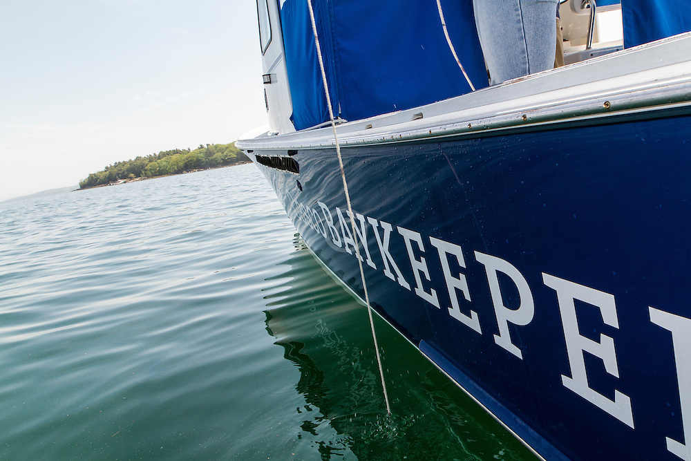 Friends of Casco Bay, Mike Doen pilots Baykeeper with college interns to test water in 3 backup sites