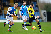 Oxford United striker Marvin Johnson (28) sprints forward with the ball during the EFL Sky Bet League 1 match between Oxford United and Walsall at the Kassam Stadium, Oxford, England on 31 December 2016. Photo by Dennis Goodwin.